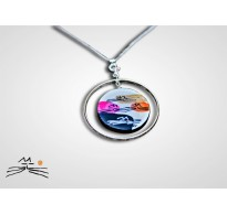 CHAT D'OR - COLLIER CREOLE EN ARGENT 925 - ROND